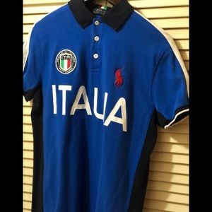 Men's Polo Ralph Lauren Italia Polo Sz Medium